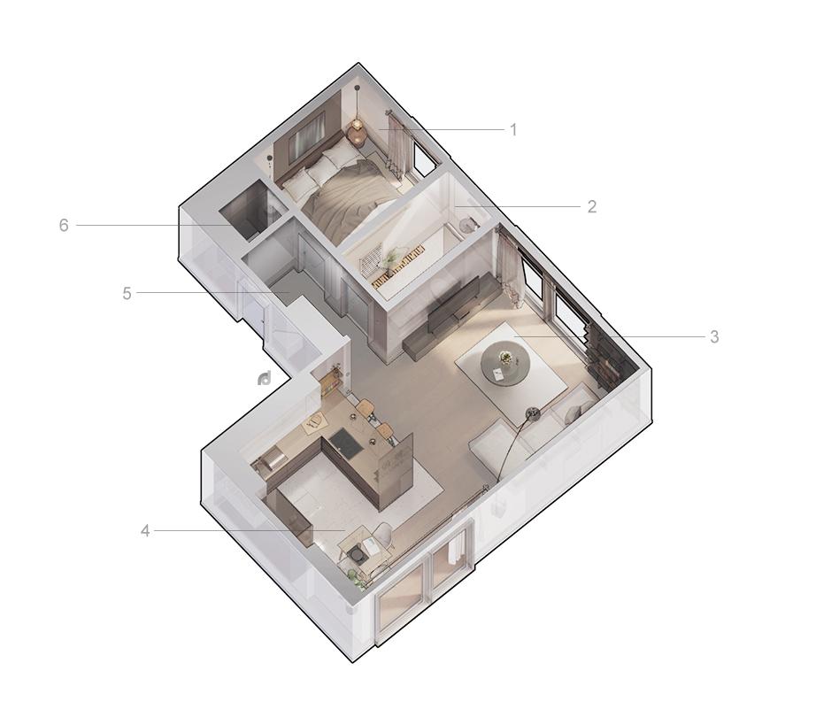 Apartment Layout Room Design Interior